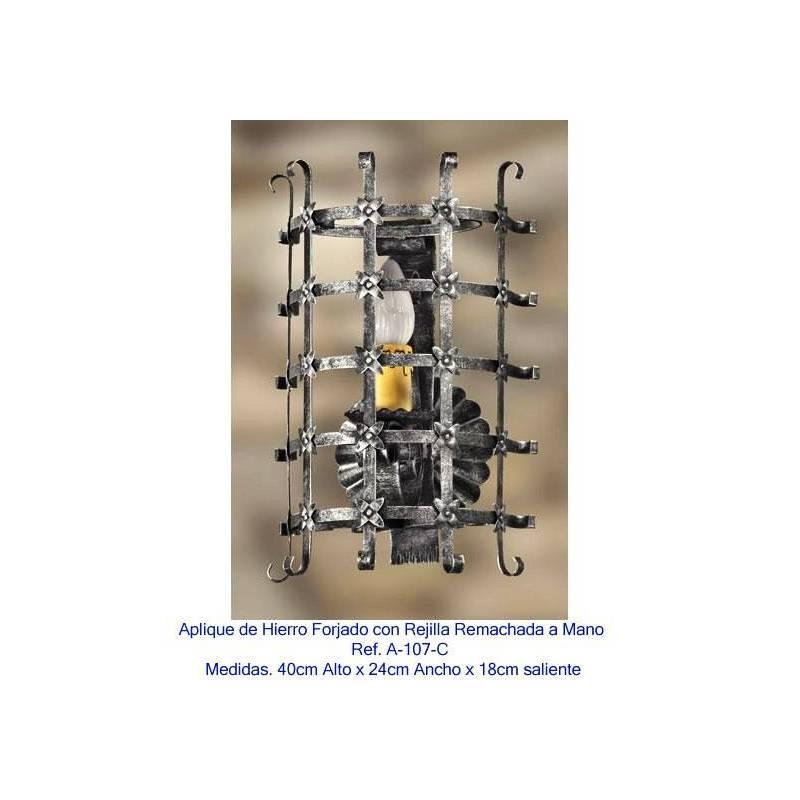 Apliques de forja para iluminaci n apliques rusticos de - Apliques para cocina ...