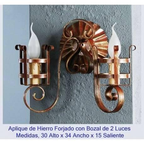 Apparecchi di illuminazione in ferro battuto. Applique in ferro battuto rustico. UN 132/2