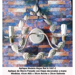 Apliques de Forja. Apliques Rústicos de Forja para iluminación. Apliques pared Forja. A-1007/2