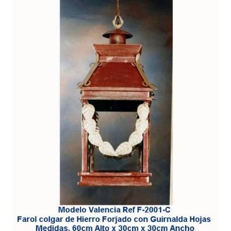 Lanternas de iluminação de ferro forjado. Lanternas de ferro rústico. F-2001/C