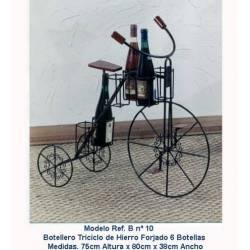 Botellero de forja. bicicleta. hecho a mano. serie limitada