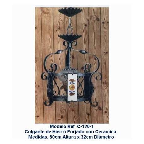 Lampade in ferro battuto rustici. vintage originale