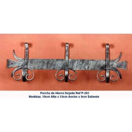 Appendiabiti in ferro battuto. Progettazione. Appendiabiti in ferro battuto rustico. P-302