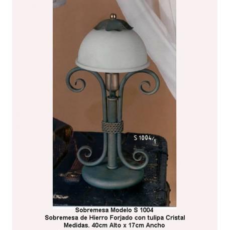 Lâmpadas de tabela de lâmpada de ferro forjado. Candeeiros de mesa de ferro forjado. elegante