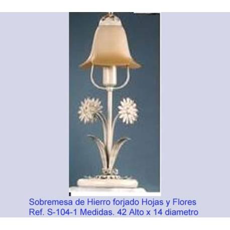 Lâmpadas de tabela de lâmpada de ferro forjado. Forjamento, forjamento desktops desktops rústico. S104