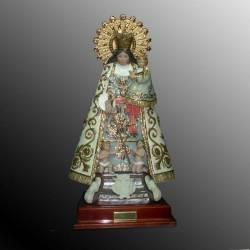 Figura de porcelana de Virgen del Carmen