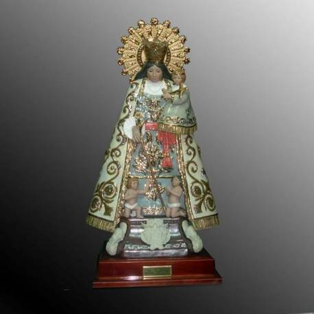 Figure of porcelain Virgen del Carmen