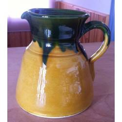 Pitcher of artisan wine. handmade. pottery
