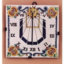 Relógio de sol em cerâmica rústico e clássico. Córdoba. modelo de rainha isabel