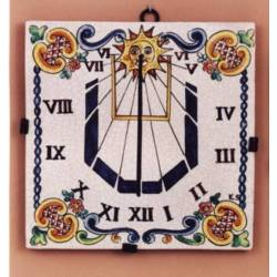 Sundial in classical ceramic. rustic. dublin. Queen Elizabeth model