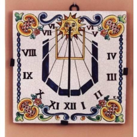 Reloj de sol en cerámica clásica y rústica. córdoba. modelo reina isabel