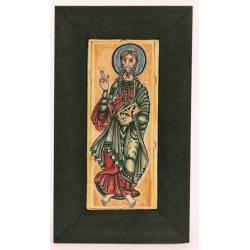 Santiago Apostel, Miniatur von der Codex Calixtinus, Kachel von Hand bemalt