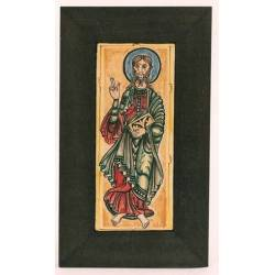 St. James Apostle, Codex Thumbnail Calixtinus, handpainted tile