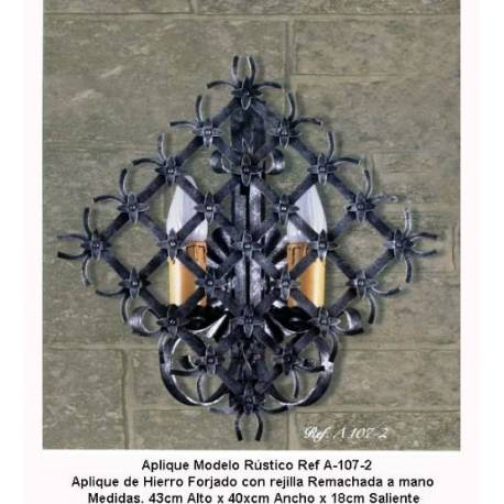 Schmiedeeisen Leuchten. Rustikale schmiedeeiserne Wandlampen. A-107/2