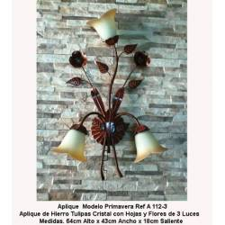 Wrought iron sconces for lighting. Sconces Rustic Forge. A-112/3
