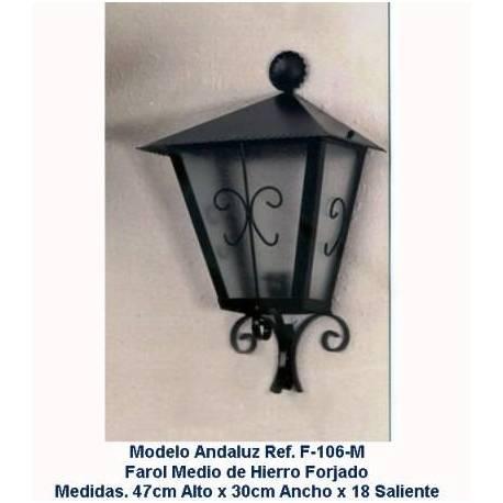Lanterne di illuminazione in ferro battuto. Lanterne in ferro battuto rustico. Barcellona. Acquista