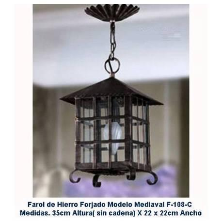 Faroles de forja rusticos para iluminación. Faroles Rústicos de Forja. compra. regalo. diseño