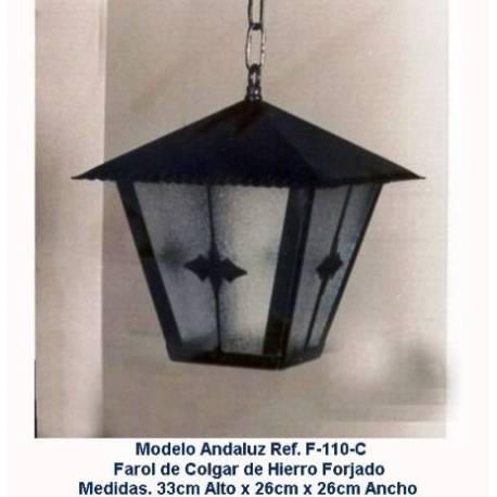 Lanterne di illuminazione in ferro battuto. Lanterne in ferro battuto rustico. F-110/C