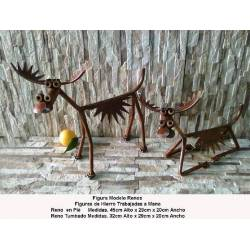 Gift in wrought iron.Decoration forging. forging gift items. reindeer