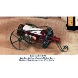 Portabottiglie in ferro battuto con carrello. fatto a mano