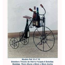 Wine rack wrought iron. bike. handmade. limited series