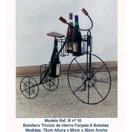 Portabottiglie in ferro battuto. bicicletta. fatto a mano. serie limitata