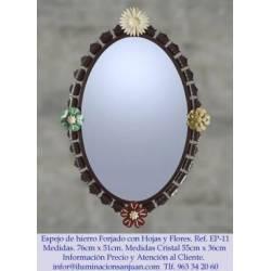 Espelhos rústicos do ferro. feito à mão. próprio projeto