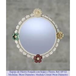 Espelhos rústicos do ferro. feito à mão. Sevilla. Compro.