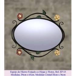 Espejos de forja rústico. Elegante. modelo reina isabel. hecho a mano