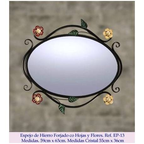Rustic wrought iron mirrors. Elegant. model Queen isabel. handmade