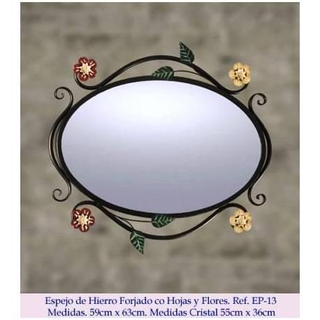 Specchi in ferro battuto rustico. Elegante. modello Regina Isabella. fatto a mano