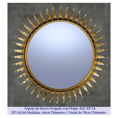 Miroirs en fer forgé rustique. Classique