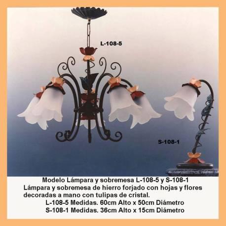 Lampadari classici in ferro battuto. impostare