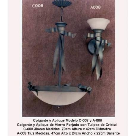 Lampes en fer forgé classique. Élégance. propre conception. à la main. acheter. exclusivité