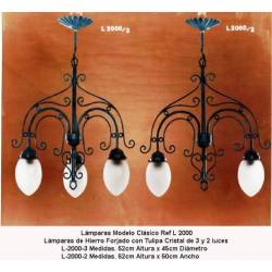 Classical Wrought Iron lamps. couple
