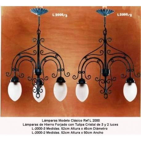 Lampes en fer forgé classique. Couple