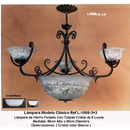 Classical Wrought Iron lamps and rustic