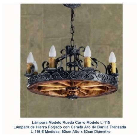 Lampes rustiques en fer forgé. à la main. acheter. paris