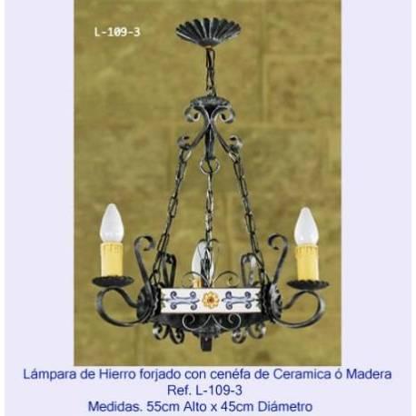 Lámparas de forja Rústicas. hecho a mano. comprar. diseño sevilla