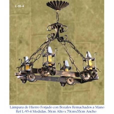 Lampes rustiques en fer forgé. carlos I