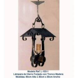 Rustic wrought iron lamps. L-103/1. genuine