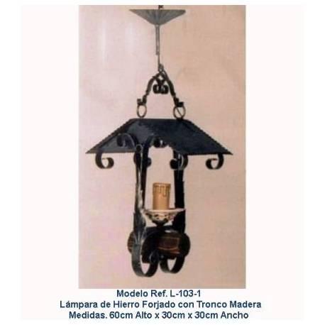 Lampade in ferro battuto rustici. L-103/1. genuino