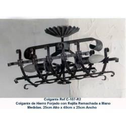 Rustic wrought iron lamps. decoration