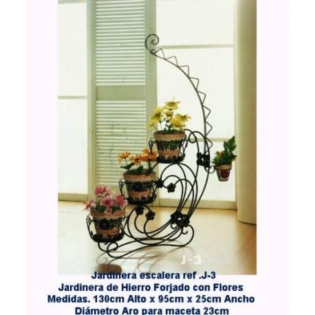 Jardineras de forja, Maceteros de forja rústicos. decoración para jardín