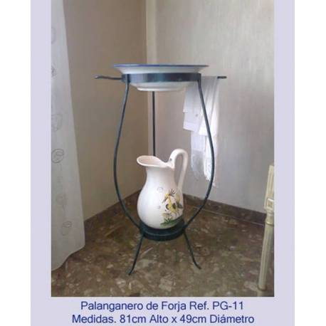 Wrought Iron washstand . Palanganeros Forge. classical. handmade. rustic