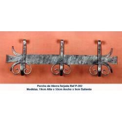 Ferro forjado cabides. Projeto. Ganchos de ferro rústico. P-302