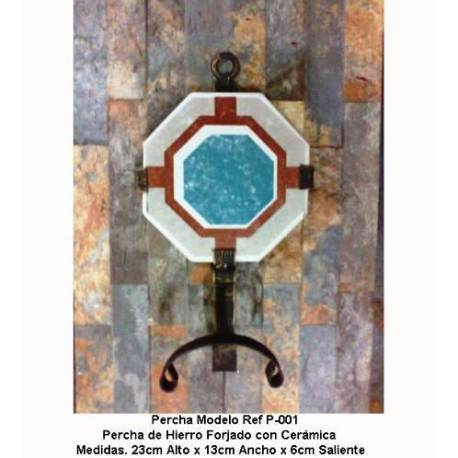 Appendiabiti in ferro battuto. Mobili per ingresso. Appendiabiti in ferro battuto rustico. P-001