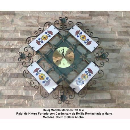 Relojes de forja. Relojes Rusticos de Forja. con porcelana. hecho a mano. comprar. valencia
