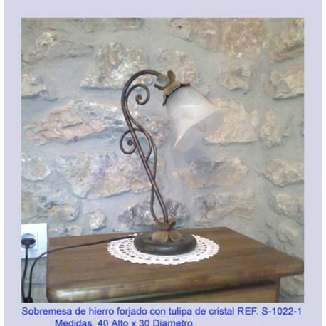 Lâmpadas de tabela de lâmpada de ferro forjado. Candeeiros de mesa de ferro forjado. rústico