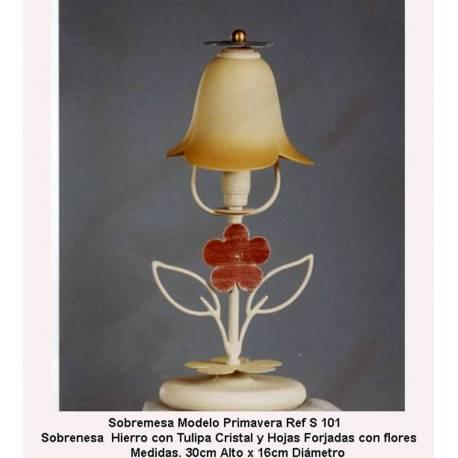 Lampade da tavolo lampada in ferro battuto. Desktop di pezzo fucinato, S-101. vintage